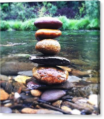 Metaphorical Canvas Print - Zen Stones II by Marco Oliveira