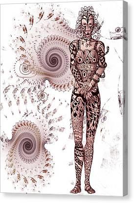 Zen Tangles Canvas Print