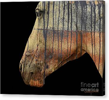 Zeniah Variation 1 Canvas Print by Judy Wood
