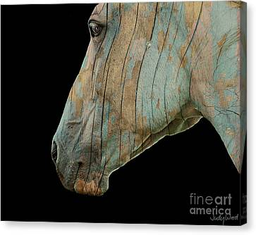 Zeniah Variation 2 Canvas Print by Judy Wood