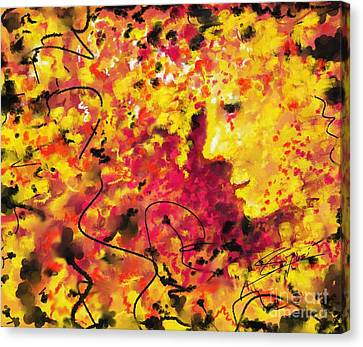Canvas Print featuring the painting Zenith In July by S G