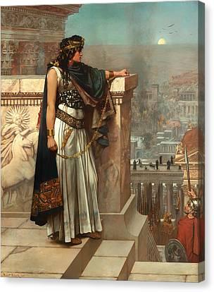 Sicily Canvas Print - Zenobia's Last Look On Palmyra by Mountain Dreams