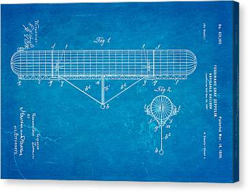 Graf Canvas Print - Zeppelin Navigable Balloon Patent Art 1899 Blueprint by Ian Monk