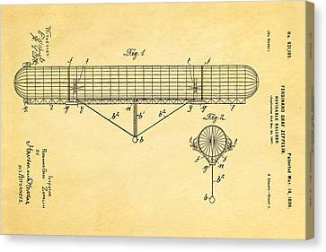 Graf Canvas Print - Zeppelin Navigable Balloon Patent Art 1899 by Ian Monk