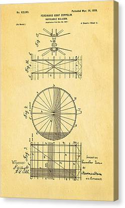 Graf Canvas Print - Zeppelin Navigable Balloon Patent Art 2 1899 by Ian Monk