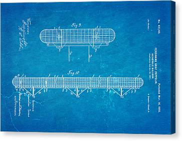 Graf Canvas Print - Zeppelin Navigable Balloon Patent Art 3 1899 Blueprint by Ian Monk