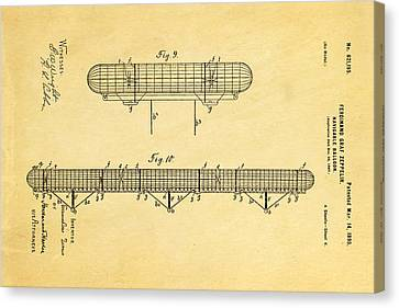 Graf Canvas Print - Zeppelin Navigable Balloon Patent Art 3 1899 by Ian Monk