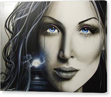 Portrait - ' Zerellic Dreams ' Canvas Print by Christian Chapman Art