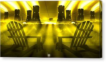 Zero Hour In Yellow Canvas Print by Mike McGlothlen
