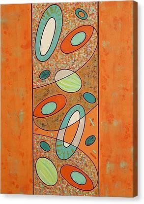 Zero Point Matrix Galaxy Eight Canvas Print by Debra Jacobson