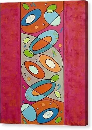 Zero Point Matrix Galaxy Four Canvas Print by Debra Jacobson