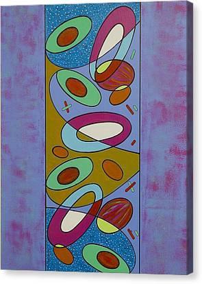 Zero Point Matrix Galaxy One Canvas Print by Debra Jacobson