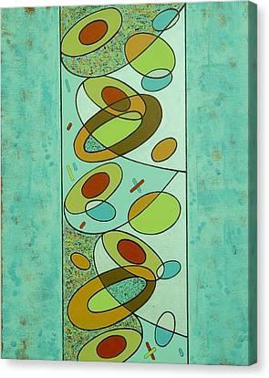 Zero Point Matrix Galaxy Two Canvas Print by Debra Jacobson