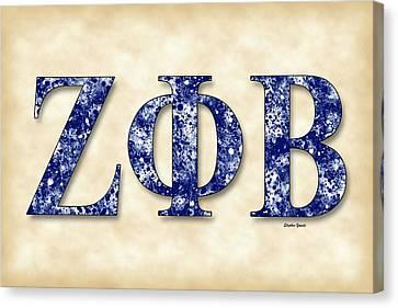 Zeta Phi Beta - Parchment Canvas Print by Stephen Younts