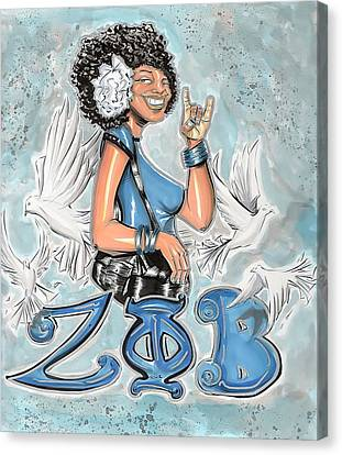Zeta Phi Beta Sorority Inc Canvas Print