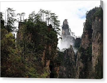Canvas Print featuring the photograph Zhangjiajie National Forest Park In China by Yue Wang