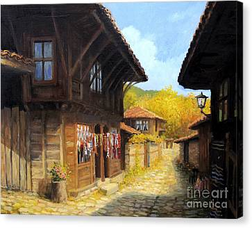 Zheravna In The Autumn Canvas Print by Kiril Stanchev