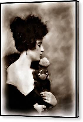 Canvas Print featuring the mixed media Ziegfeld Girl by Mary Morawska