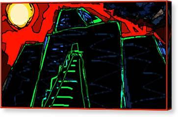 Ziggurat Nites Canvas Print by Paul Sutcliffe