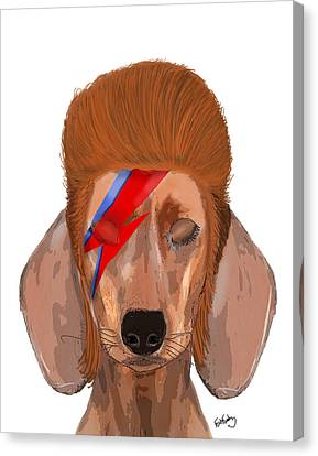 Ziggy Aladdin Sane Dog Canvas Print by Kelly McLaughlan