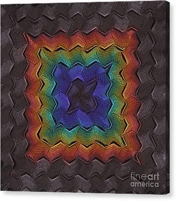 Zigzag Dark Canvas Print