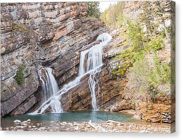 Canvas Print featuring the photograph Zigzag Waterfall by John M Bailey