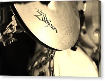Zildjian Hi-hat Sepia Canvas Print by Lynda Dawson-Youngclaus