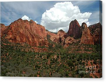 512p Zion Area Canvas Print by NightVisions