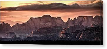 Zion Cliffs Canvas Print by Leland D Howard