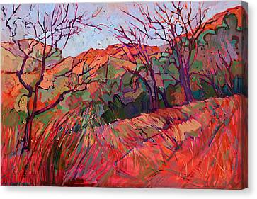 Zion Flame Canvas Print by Erin Hanson