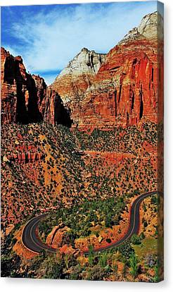 Zion Hairpin Canvas Print by Benjamin Yeager