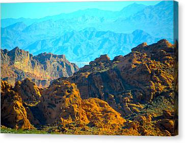 Zion Mountain Range Canvas Print by Barbara Snyder