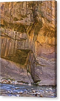 Canvas Print featuring the photograph Zion Narrows by Ruth Jolly