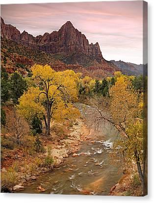 Zion National Park Canvas Print by Leland D Howard