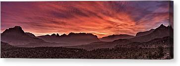 Zion National Park Panoramic Canvas Print by Leland D Howard