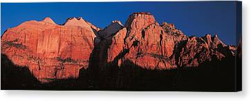 Zion National Park Ut Usa Canvas Print by Panoramic Images