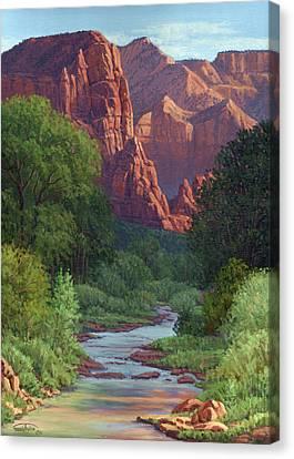 Zion Canvas Print by Randy Follis