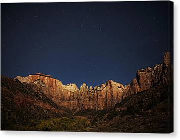 Zion Under The Stars Canvas Print