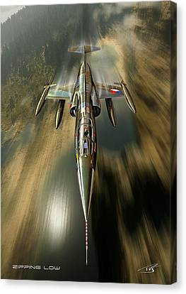 Zipping Low Canvas Print by Peter Van Stigt