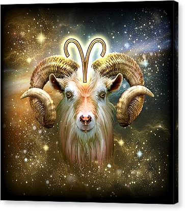 Zodiac Aries Canvas Print by Ciro Marchetti
