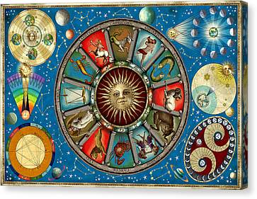 Zodiac Colour Canvas Print by Garry Walton