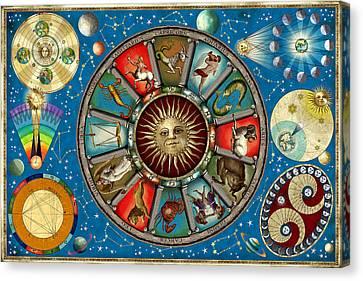 Zodiac Colour Canvas Print