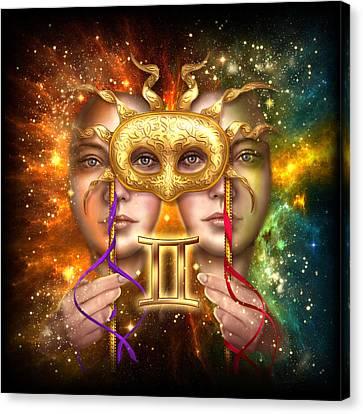 Zodiac Gemini Canvas Print by Ciro Marchetti