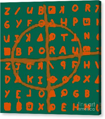 Zodiac Killer Code And Sign 20130213p28 Canvas Print by Wingsdomain Art and Photography