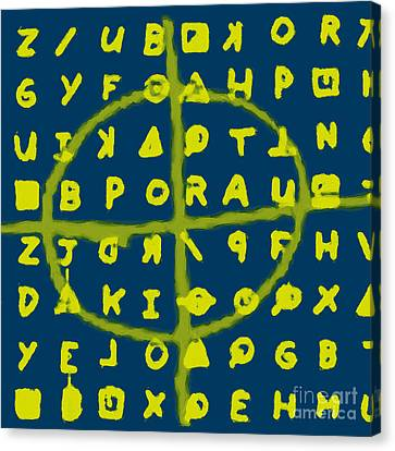 Zodiac Killer Code And Sign 20130213p68 Canvas Print by Wingsdomain Art and Photography