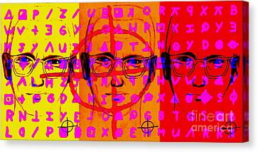 Zodiac Killer Three With Code And Sign 20130213 Canvas Print by Wingsdomain Art and Photography