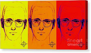 Zodiac Killer Three With Sign 20130213 Canvas Print by Wingsdomain Art and Photography