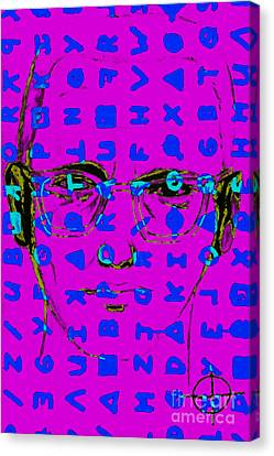 Zodiac Killer With Code And Sign 20130213m180 Canvas Print by Wingsdomain Art and Photography