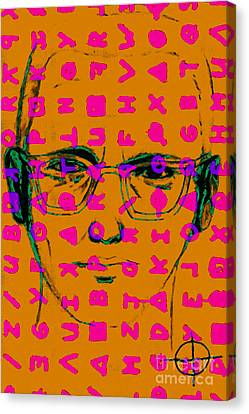 Zodiac Killer With Code And Sign 20130213m80 Canvas Print by Wingsdomain Art and Photography