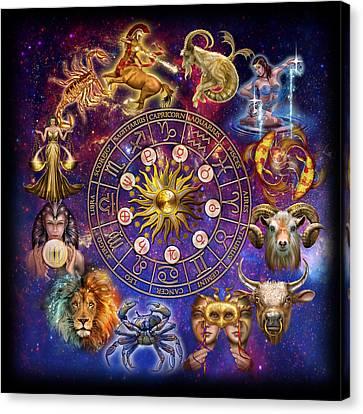 Zodiac Montage Canvas Print by Ciro Marchetti
